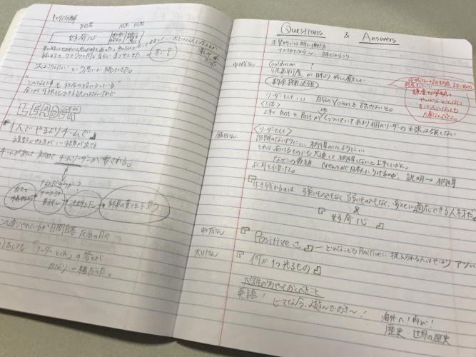 新井みさきさん(ノート)